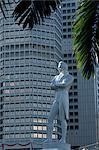 Raffles statue, River Pier, Singapore, Asia