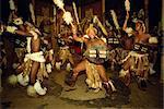 Danses zouloues lors d'un spectacle culturel de Shakaland, Afrique du Sud, Afrique