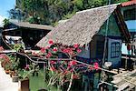 Intérieur traditionnel, logement, Panya pêche village, baie de Phang Nga, en Thaïlande, l'Asie du sud-est, Asie