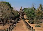 Processional way, Prasat Hin Khao Phnom Rung, Khmer Temple, Khorat Plateau, Thailand, Southeast Asia, Asia