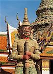 Guardian statue, Grand Palace, Bangkok, Thailand, Southeast Asia, Asia
