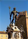 Statue on Fountain of Neptune, Bologna, Emilia-Romagna, Italy, Europe