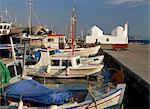 Port et église, ville d'Égine, Egine, Argo Saronique îles, îles grecques, Grèce, Europe