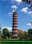 La pagode à Kew Gardens, patrimoine mondial de l'UNESCO, Londres, Royaume-Uni, Europe