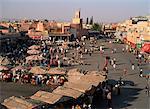 Place Jamaa el Fna, la Medina, Marrakech, Maroc, Afrique du Nord, Afrique