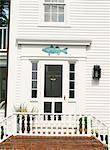 Façade de maison à décor de poissons, Edgartown, Martha s Vineyard, Massachusetts, New England, États-Unis d'Amérique, Amérique du Nord
