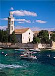 Le monastère franciscain, la ville de Hvar, Hvar, Dalmatia, Croatie, Europe