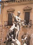 L'Aretusa fontaine, Syracuse, Sicile, Italie, Europe