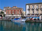 Vieux bâtiments, Syracuse, Sicile, Italie, Méditerranée, Europe