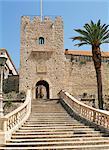 La porte continentale, vieille ville de Korcula, Korcula, Dalmatie, Croatie, Europe