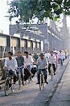 Cyclists, Vietnam, Indochina, Southeast Asia, Asia