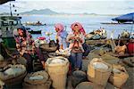 Rice sellers, Cambodia, Indochina, Asia