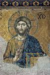 Mosaïques, Santa Sofia, patrimoine mondial de l'UNESCO, Istanbul, Turquie, Europe