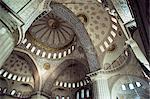 Intérieur de la mosquée bleue (Sultan Camii), patrimoine mondial de l'UNESCO, Istanbul, Turquie, Europe, Eurasie
