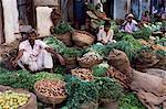 Légumes pour les vendre, Ahmedabad, Gujarat État, Inde, Asie