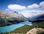 Vallée du lac Peyto, monture Patterson et Mistaya, Parc National Banff, patrimoine mondial de l'UNESCO, Alberta, Canada, Amérique du Nord