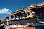 Les bâtiments du monastère Tashilumpo à Shigatse, Tibet, Chine, Asie