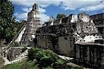 Temple I, Tikal, patrimoine mondial de l'UNESCO, Petén, Guatemala, Amérique centrale