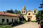 The Carmel Mission Basilica, the mission of San Carlos Borromeo, founded in 1770 by Junirero Serra, Carmel-by-the-Sea, California, United States of America, North America