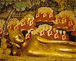 Reclining Buddha, Wat Bovornivet, Bangkok, Thaïlande, Asie