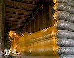 Reclining Buddha statue, Wat Po, Bangkok, Thailand, Southeast Asia, Asia