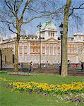 Horse Guards und alte Gebäude im Frühjahr, Admiralität London, England, UK