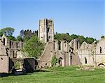 Fountains Abbey, UNESCO World Heritage Site, Yorkshire, England, United Kingdom, Europe