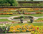 Étang de jardin, Hampton Court Palace, Greater London, Angleterre, Royaume-Uni, Europe
