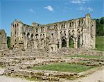 Rievaulx Abbey, North Yorkshire, Yorkshire, England, United Kingdom, Europe
