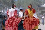 Romeria del Rocio fetival, El Rocio, Andalucia (Andalusia), Spain, Europe