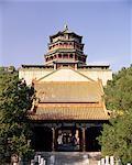 Qing architecture, Si Huihai, mer de la sagesse temple, le Palais d'Eté, Beijing, Chine, Asie