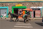 Typical street scene, Gonder, Gonder region, Ethiopia, Africa