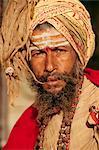 Portrait of a Saddhu, Hindu holy man, Kathmandu, Nepal