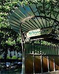 Metropolitain station entrance, Paris, France, Europe