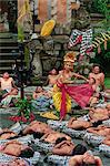 Princess Sita and performers of the Kecak Dance, Bali, Indonesia, Southeast Asia, Asia