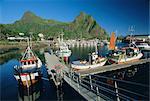 Svolvaer Marina on Austvagoy, Lofoten Islands, Nordland, Norway, Scandinavia, Europe
