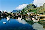 Fishing village of Tind, Moskenesoya, Lofoten Islands, Nordland, Norway, Scandinavia, Europe