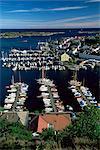 Risor, la ville blanche sur la définition du Skagerrak, de la côte sud, la Norvège, Scandinavie, Europe