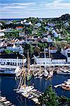 Risor, la ville blanche sur le Skagerrak, côte sud, la Norvège, la Scandinavie, l'Europe