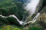 Voringsfossen waterfall, Hardanger region, Norway, Scandinavia, Europe