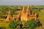 Paysage d'ancien temples et pagodes, Bagan (Pagan), Myanmar (Birmanie)