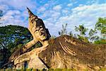 Statue de Bouddha couché, Xieng Khuan, Vientiane, Laos