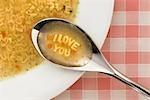 Alphabet Soup Spelling I Love You