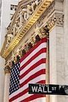 American FLag, New York Stock Exchange, Manhattan, New York, New York, USA