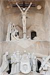 La Crucifixion, la Sagrada Familia, Barcelone, Catalogne, Espagne