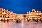 Plaza Mayor, Salamanca, Salamanca Province, Castilla y Leon, Spain