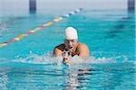 Athlète pour nage brasse