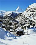 Zermatt et le Cervin, Alpes suisses, Suisse, Europe