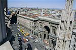 Nordwestengland Blick vom Dach der Duomo (Kathedrale), Milan, Lombardia (Lombardei), Italien, Europa