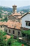 Toits, Dogliani, les Langhe, Piémont, Italie, Europe